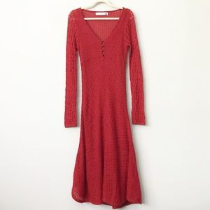 Anthro Sparrow Alamosa Knit Dress in Sz L